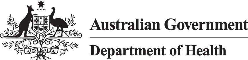 Australian Government Department of health banner